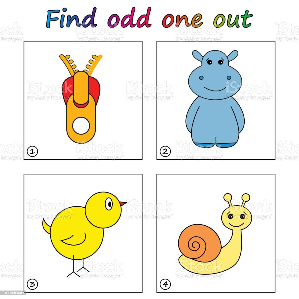 Odd Man Out Spiel Für Kinder Zu Finden Arbeitsblatt Visuelle ...