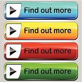 illustration of colorful find out more web buttons set
