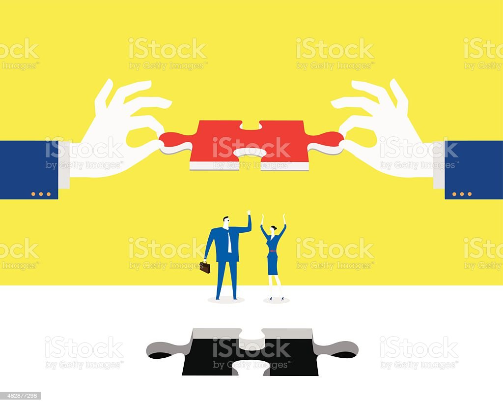 Find out the solution vector art illustration