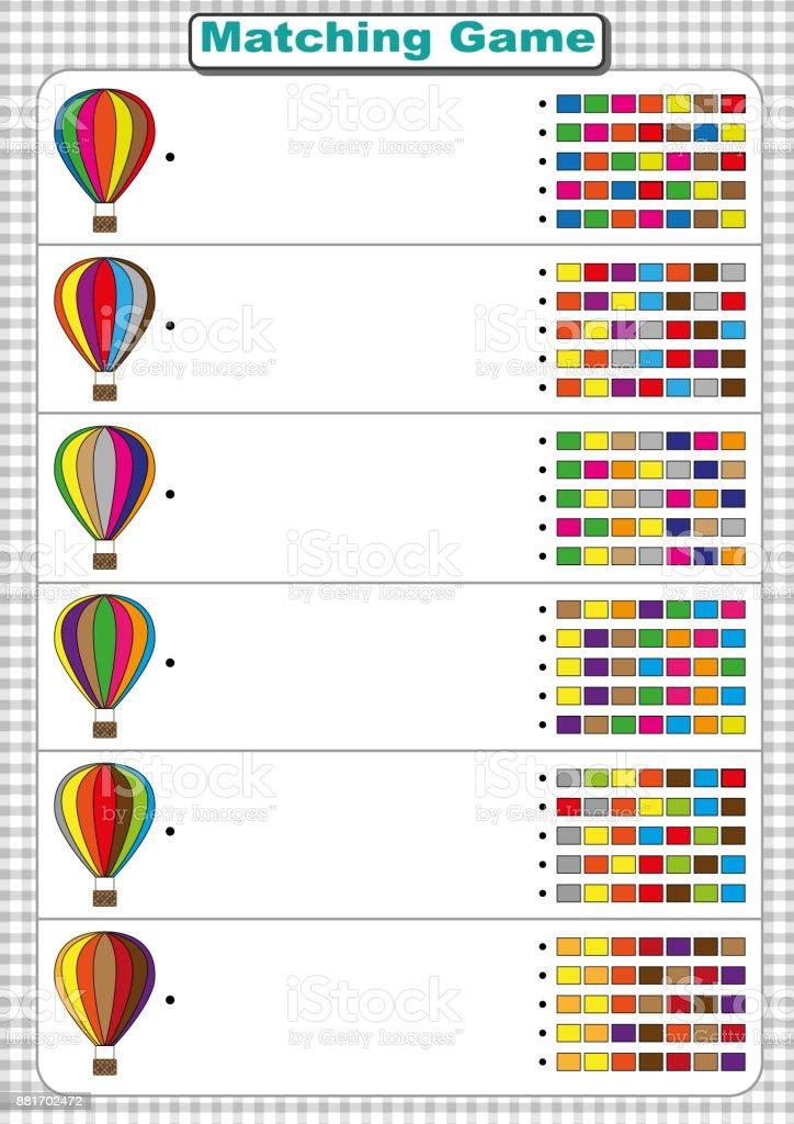 Ilustración de Encontrar La Secuencia De Colores Del Globo De Aire ...