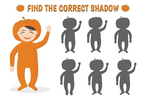 Find the correct shadow. Halloween