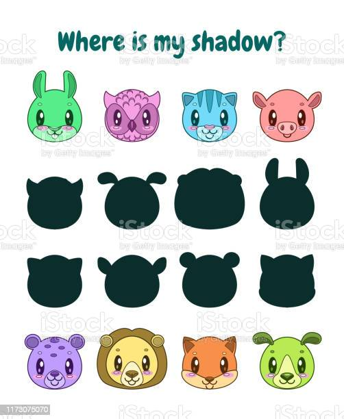 Find the correct shadow logic game for children vector id1173075070?b=1&k=6&m=1173075070&s=612x612&h=wvs pu 3p crk3nnivsfkew7mlrmm5h qpfhzkydg1g=