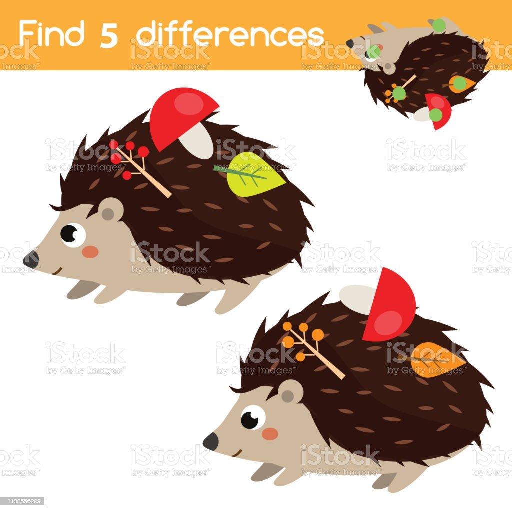 Trouvez Les Differences Jeu Educatif Pour Enfants Activite