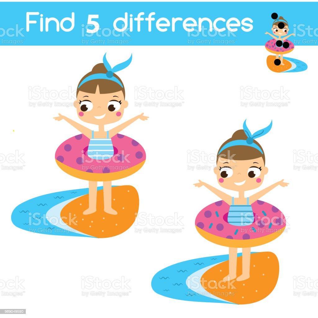 Finde Die Unterschiede Pädagogische Kinder Spiel Kinder Aktivität ...