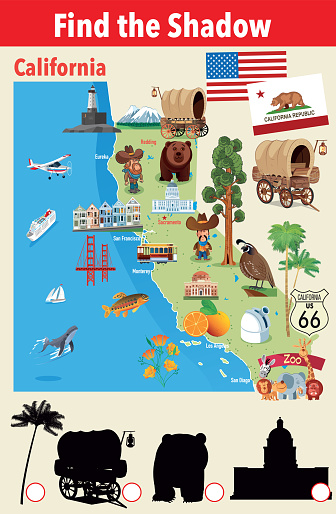 Find the Shadow of California Symbols