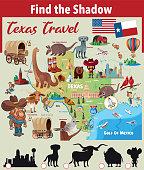 Find the Shadow,Texas symbols http://legacy.lib.utexas.edu/maps/united_states/texas_2002.jpg