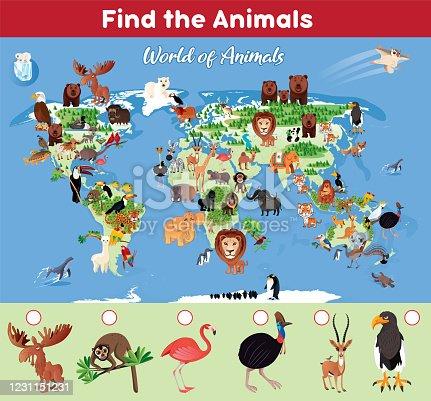 Vector Find the World Animals http://legacy.lib.utexas.edu/maps/world_maps/world_physical_2015.pdf