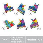 Find two equal identical roller skates