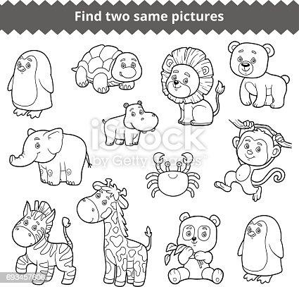 istock Encontrar dos fotos idénticas, educación para los niños ...