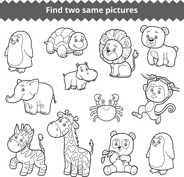 Royalty Free Coloring Book For Children Elephants Clip Art, Vector ...