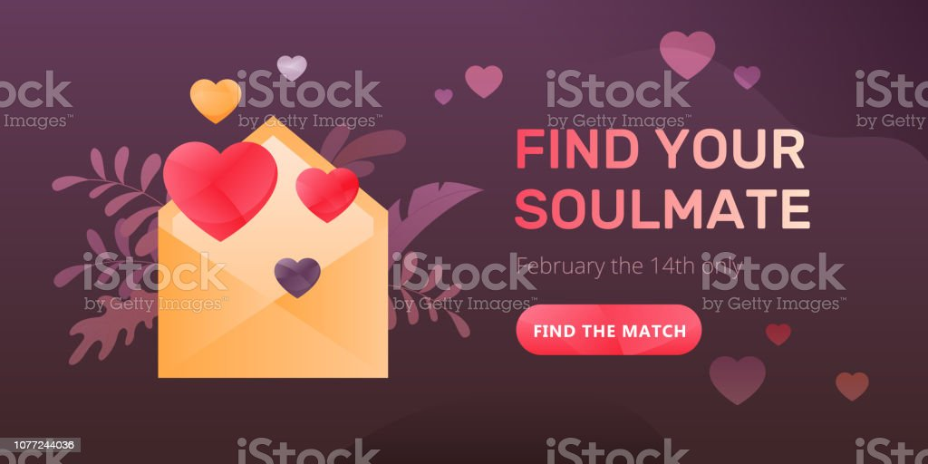 Find Your Soulmate Web Banner Stock Vector Art & More Images