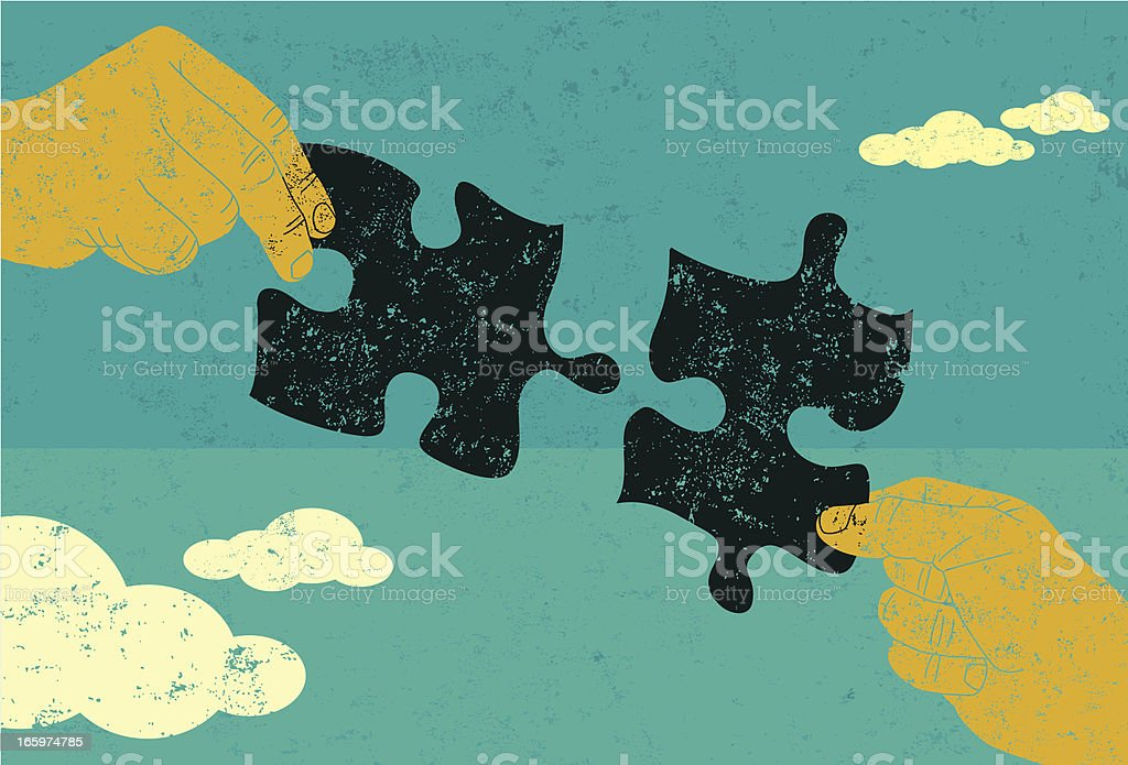 Finding a solution royalty-free stock vector art