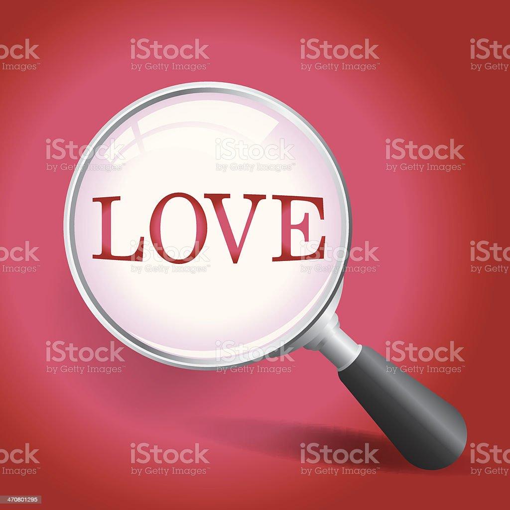 Finding Love vector art illustration