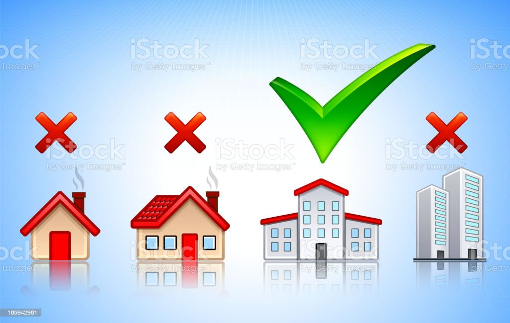 Finding the Right New House royalty-free stock vector art