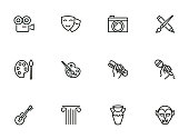 Fine and popular arts icons