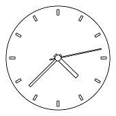 Fine clock icon. Outline illustration of fine clock vector icon for web