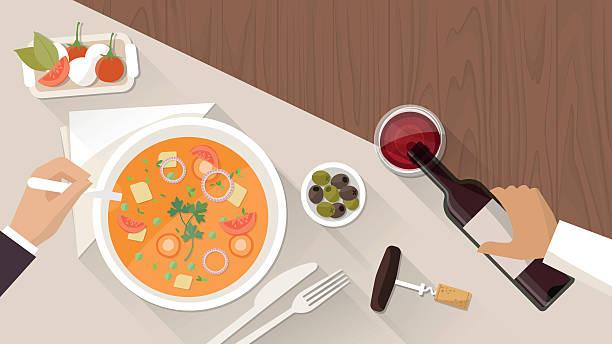 高級ダイニングレストラン - 高級料理点のイラスト素材/クリップアート素材/マンガ素材/アイコン素材