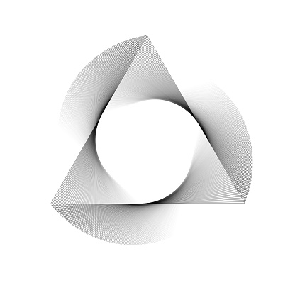 Fine spin, rotating triangle, fading to white