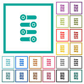istock Fine tune flat color icons with quadrant frames 1097466618