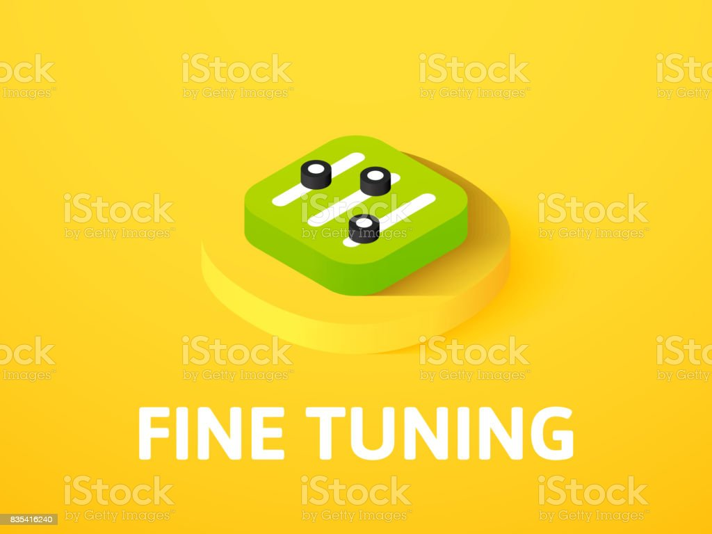 Fine tuning isometric icon, isolated on color background vector art illustration