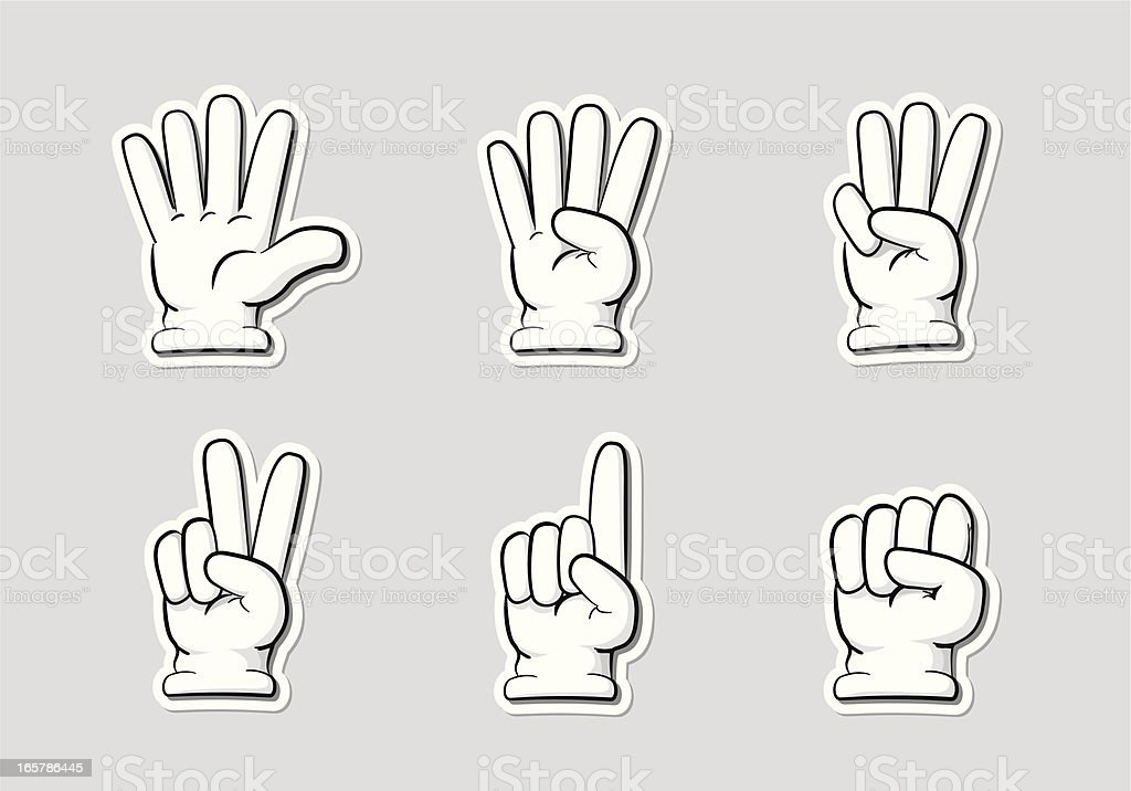 Finger Countdown royalty-free stock vector art