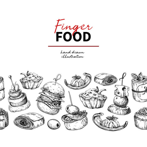Best Canape Illustrations, Royalty-Free Vector Graphics