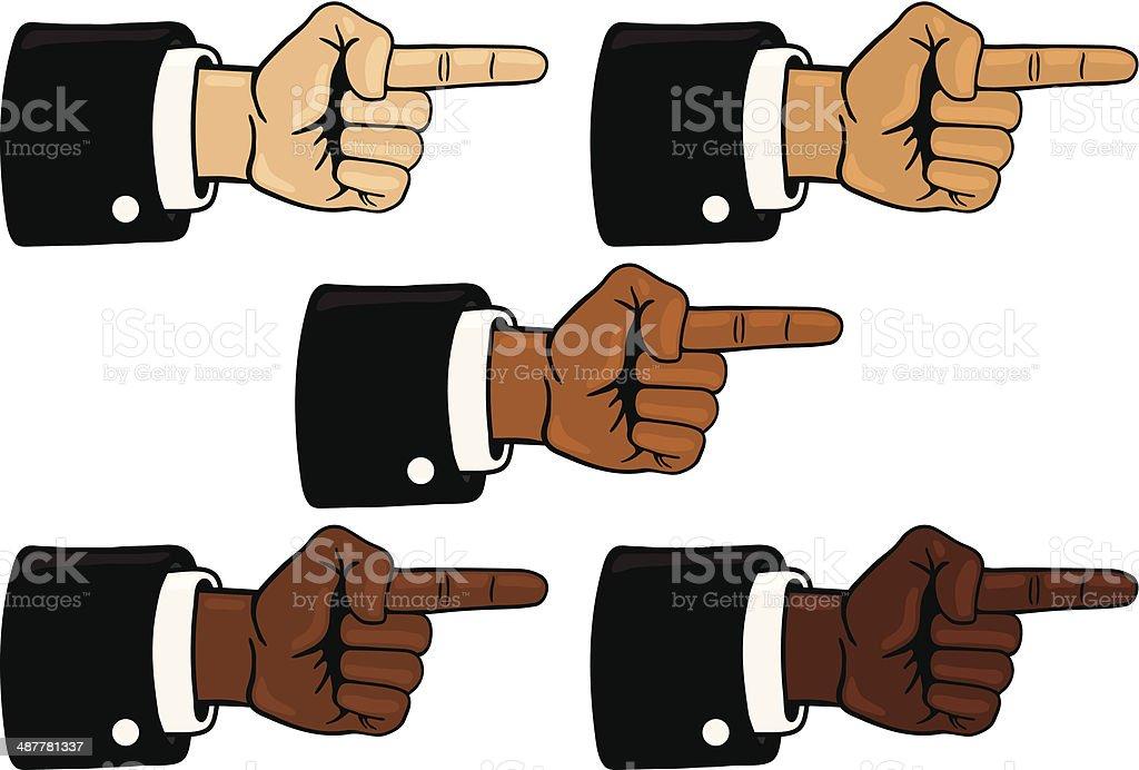 Finger Pointing royalty-free stock vector art
