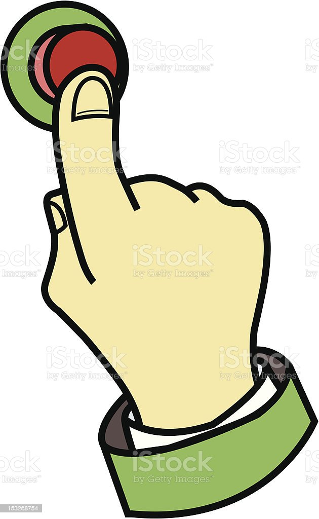 Finger pressing button royalty-free finger pressing button stock vector art & more images of cartoon