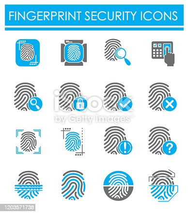 Finger Print security related icon on background for graphic and web design. Creative illustration concept symbol for web or mobile app