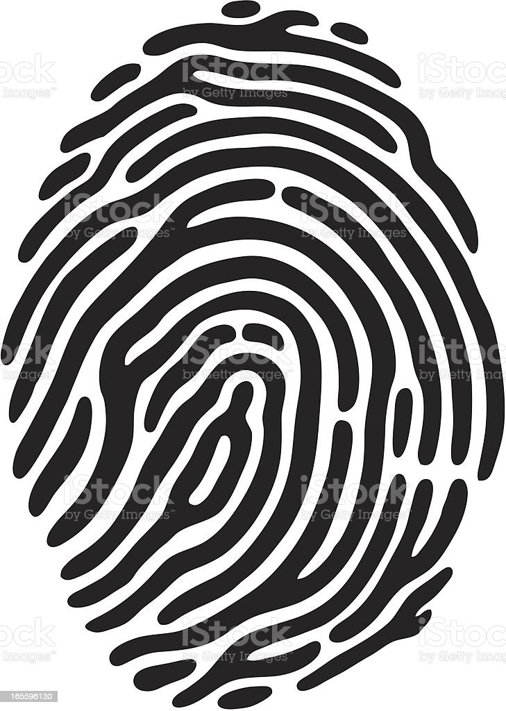 Finger Print royalty-free finger print stock vector art & more images of black and white