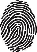 Vector file of a fingerprint.