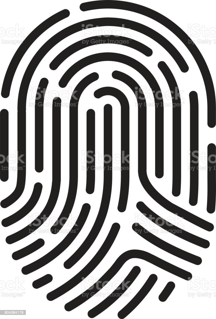 finger print – Vektorgrafik