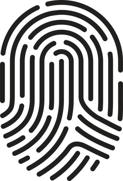 finger print - identity theft stock illustrations, clip art, cartoons, & icons