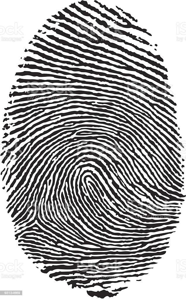 Finger print. vector art illustration