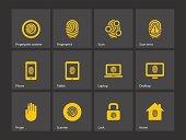 Finger scanner icons.