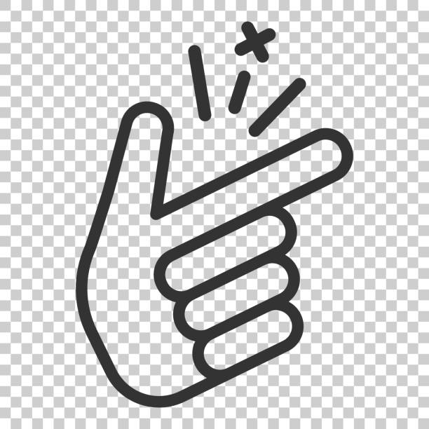 Finger snap icon in flat style. Fingers expression vector illustration on isolated background. Snap gesture business concept. Finger snap icon in flat style. Fingers expression vector illustration on isolated background. Snap gesture business concept. smooth stock illustrations