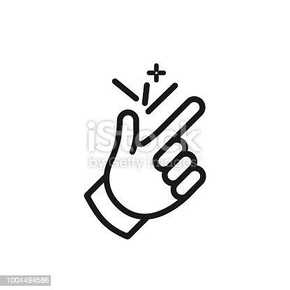istock finger snap icon ok 1004494586