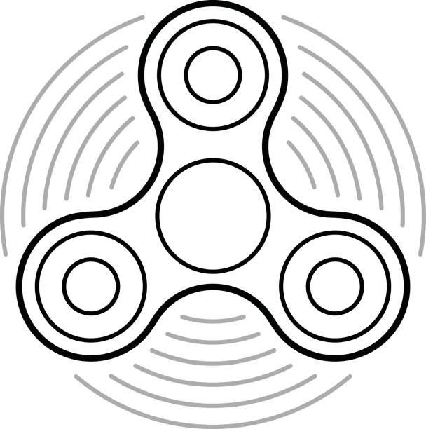 fidget spinner coloring pages free - royalty free fidget spinner clip art vector images