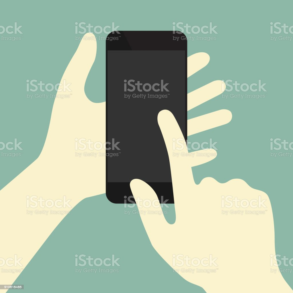 Finger swiping phone concept illustration vector art illustration