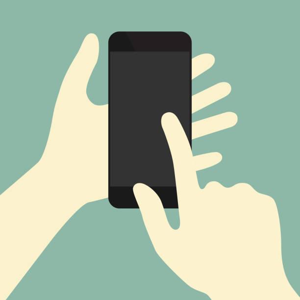 Finger swiping phone concept illustration vector art illustration