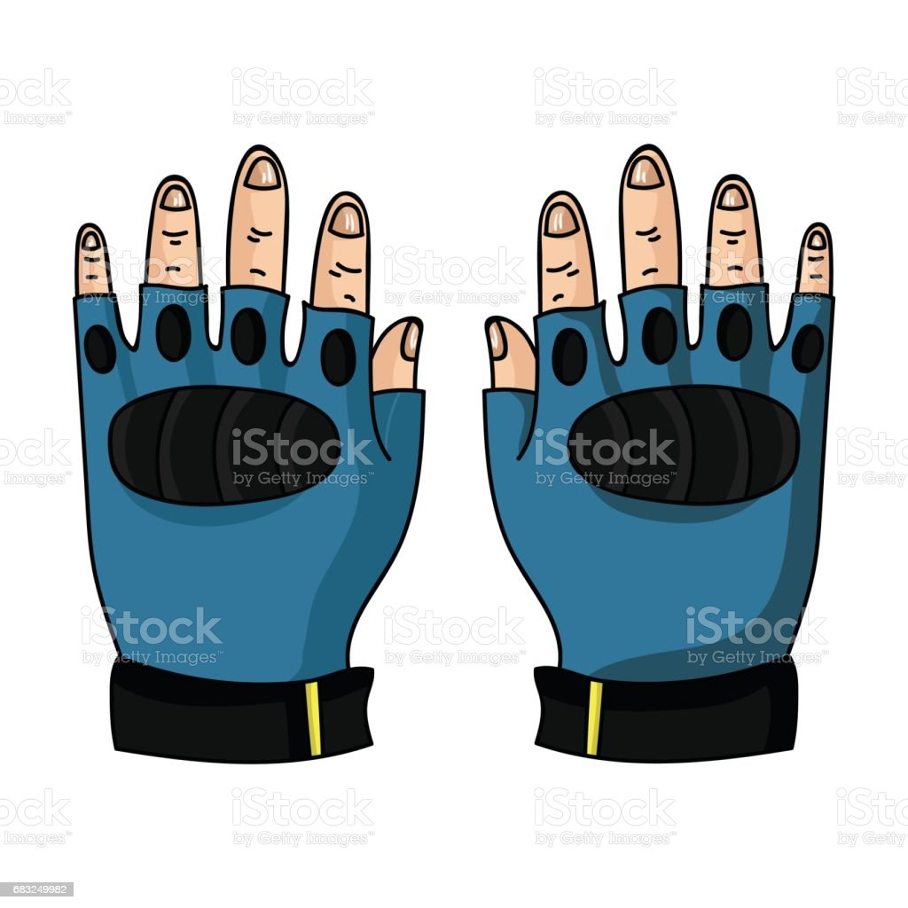 Fingerless gloves icon in cartoon style isolated on white background. Paintball symbol stock vector illustration. ロイヤリティフリーfingerless gloves icon in cartoon style isolated on white background paintball symbol stock vector illustration - イラストレーションのベクターアート素材や画像を多数ご用意