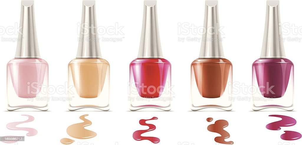 Fingernail polish vector art illustration
