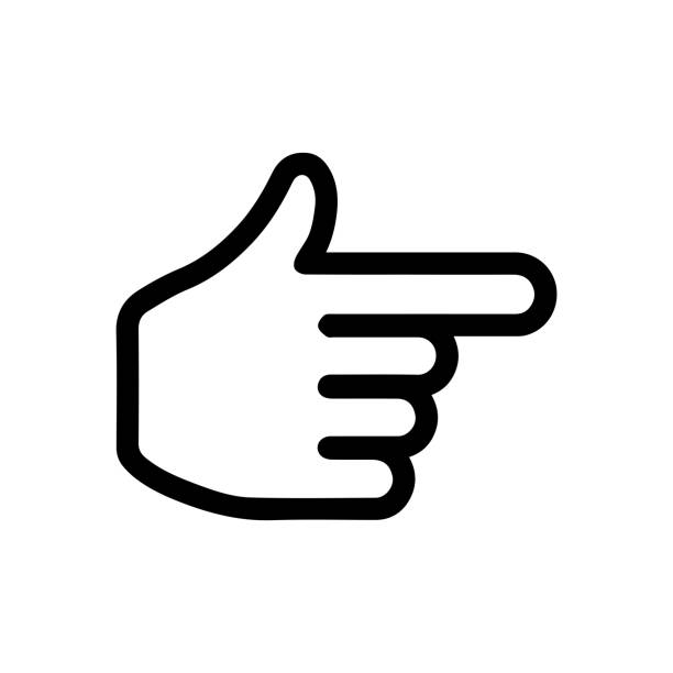 finger,pointer,cursor icon (right / next page ) - palec stock illustrations