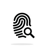 Fingerprint and thumbprint icon on white background