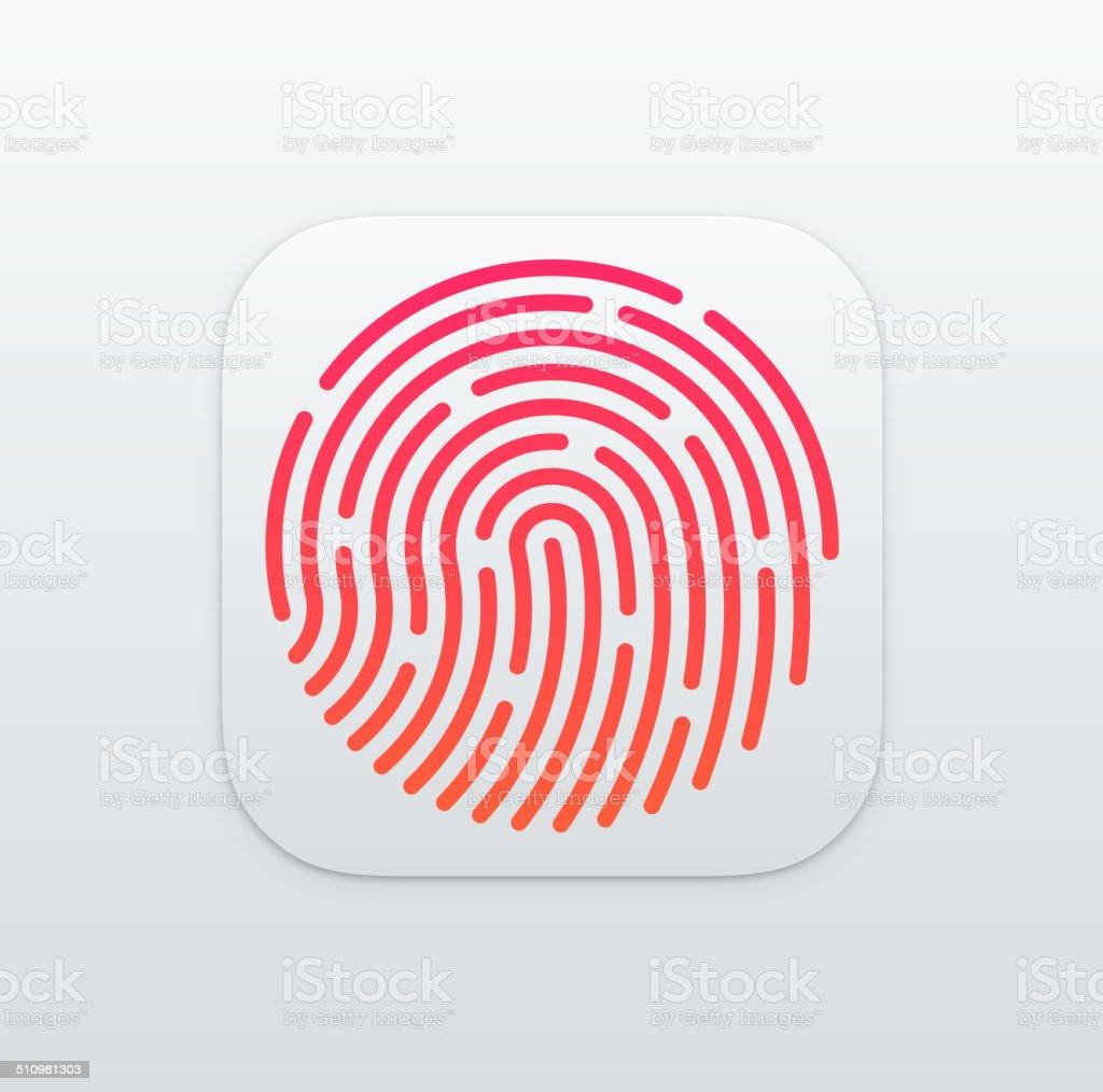 Fingerprint App icon background vector art illustration