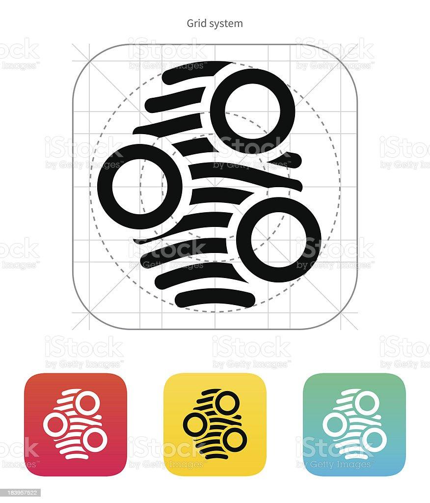Fingerprint arch type scan icon. royalty-free stock vector art