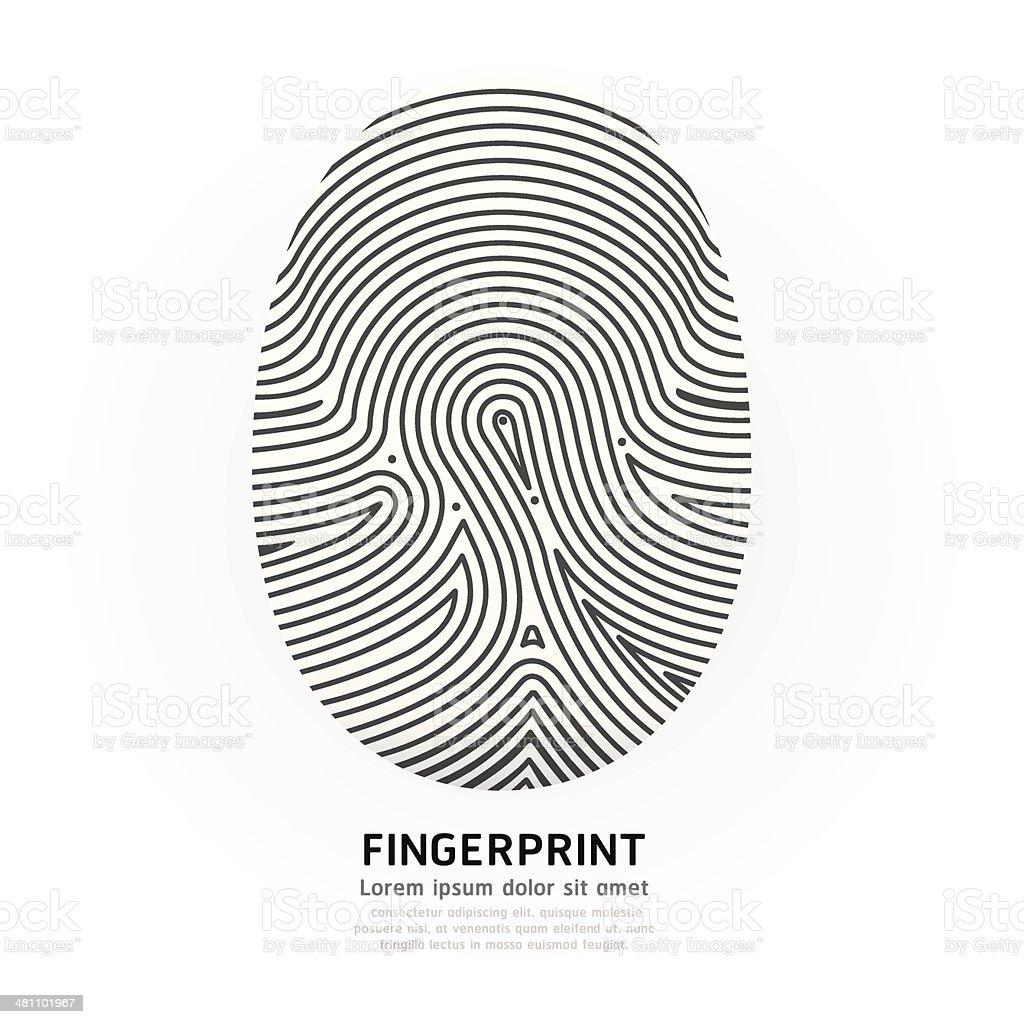 Fingerprint color vector illustration. vector art illustration