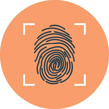 Fingerprint Colored Vector Illustration