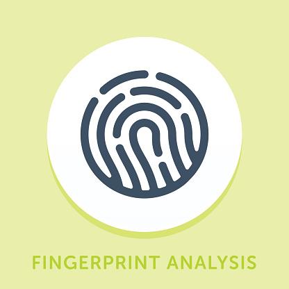 Fingerprint Curve Icon