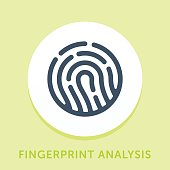 Curved Style Line Vector Icon for Security Analysis.